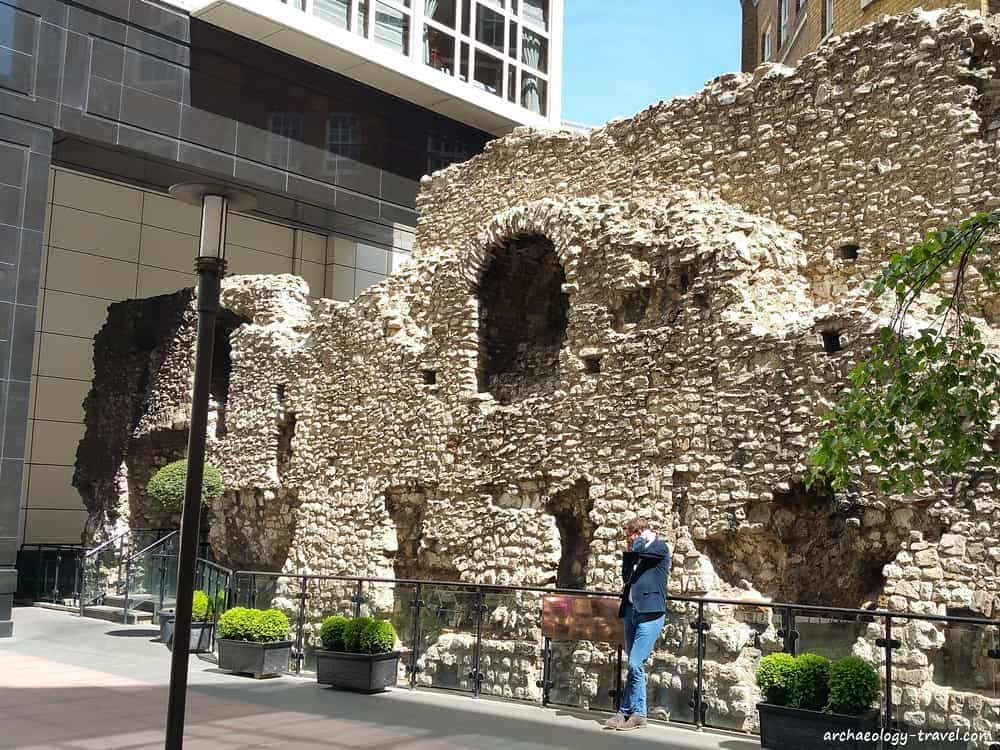 The City Wall of London at Cooper's Row.
