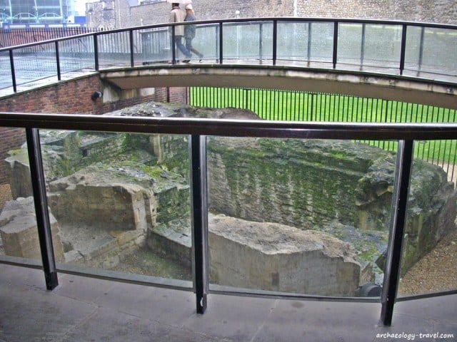The Medieval postern at the start of the London Wall walk, opposite the Tower of London.