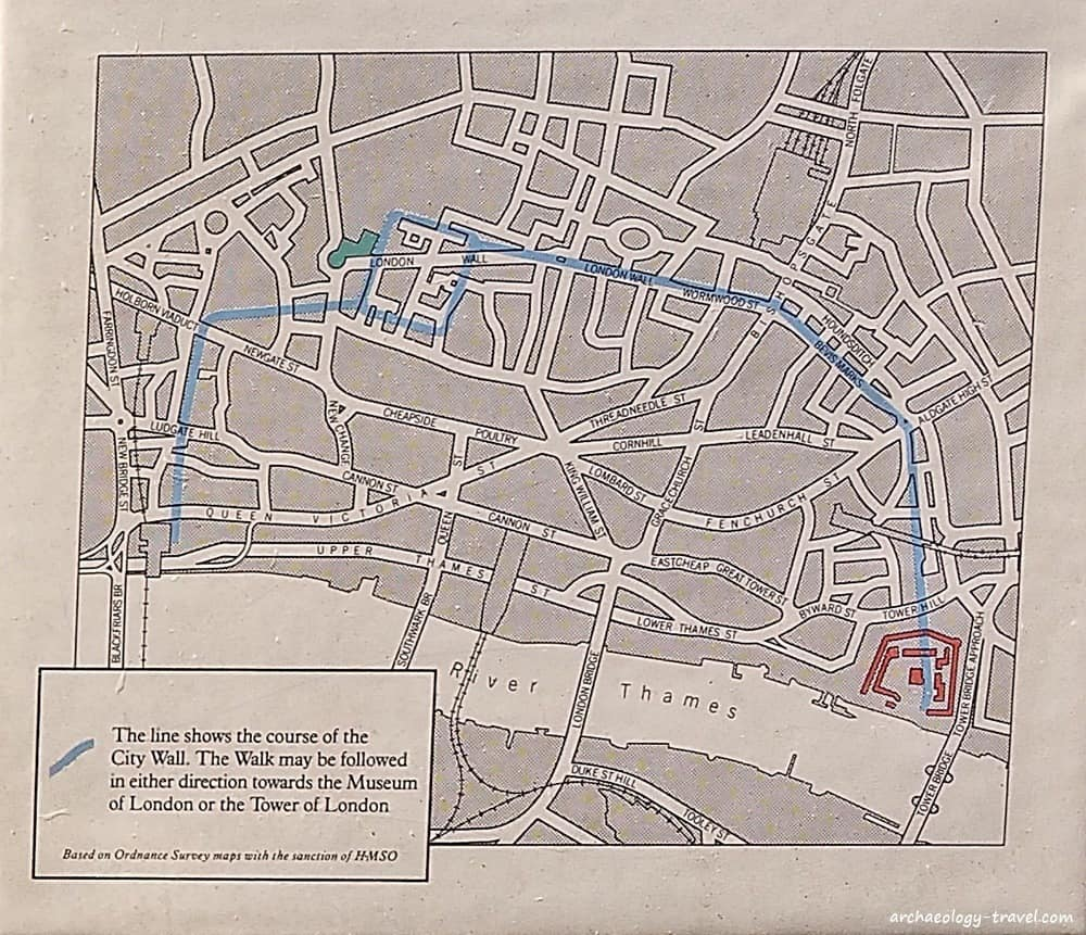 London 1600 Map.London S Roman Medieval Wall Walk Archaeology Travel
