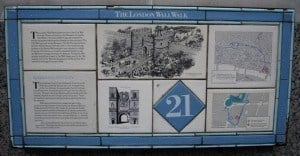 The London Wall Walk, follows the Roman and Medieval city wall of London