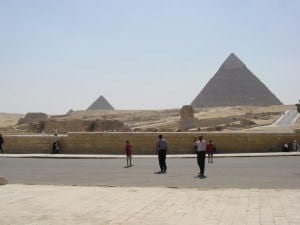 The Sphinx and the Pyramids today