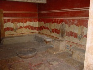 Knossos Palace is the largest Bronze Age archaeological site on Crete, probably the ceremonial and political centre of the Minoan civilisation, near the city of Heraklion.