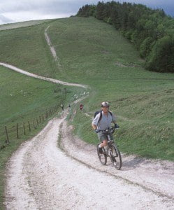 Cycling along the South Downs Way © Countryside Agency