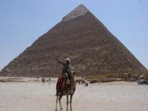 Camel Driver at the Pyramids, Cairo