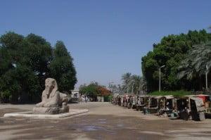 An Ancient Sphinx and Modern Souvenir Sellers, Memphis