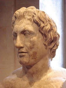 Roman copy of a statue of Alexander the Great by Lysippos, Louvre Museum