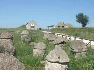 An Etruscan necropolis near Tarquinia, Lazio in Italy