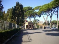 The entrance to Ostia Antica.