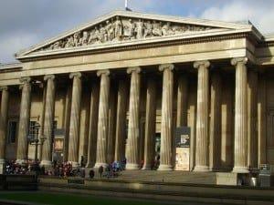 The neo-Classical façade of the British Museum