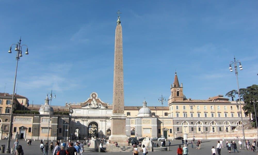 The Flaminian Obelisk in the Piazza del Popolo, Rome.