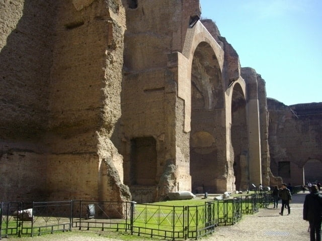 The side of the frigidarium at the Baths of Caracalla