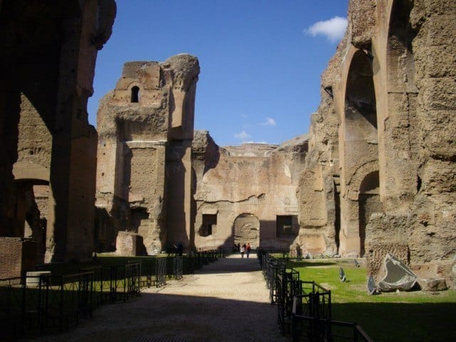 30 m high walls at the Baths of Caracalla