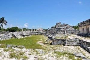 The archaeological site of El Rey in Cancun
