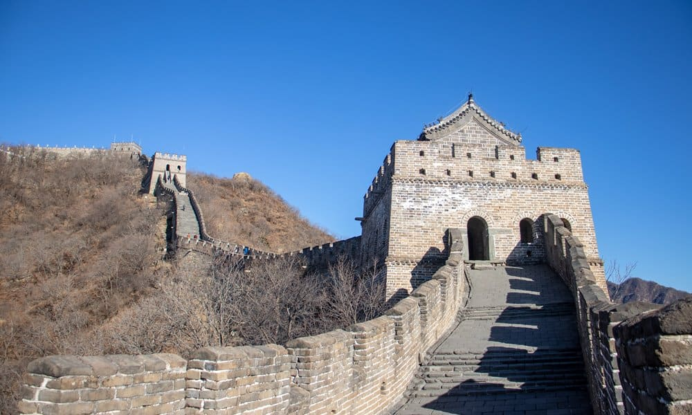 A watchtower on the Great Wall of China.