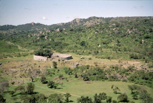 Stone walled enclosure at Great Zimbabwe
