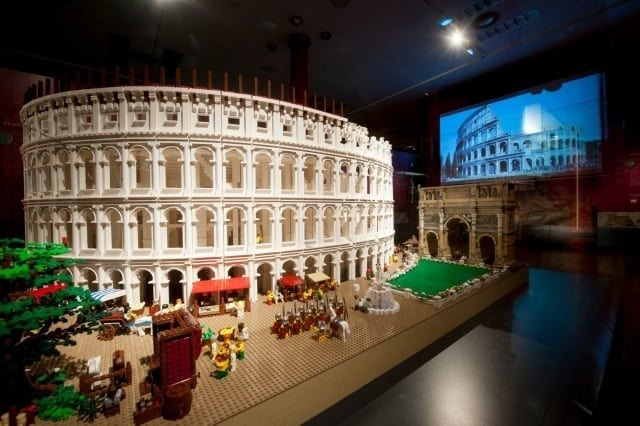 Lego Colosseum in the Nicholson Museum