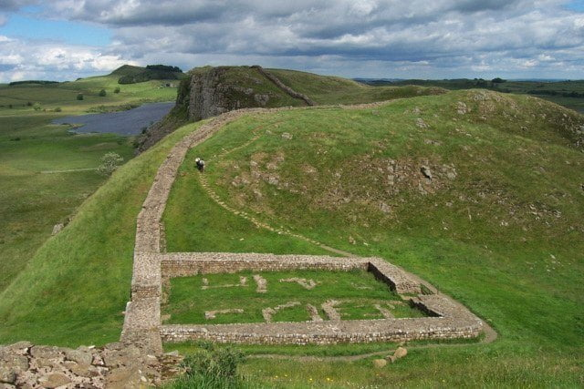 Milecastle 39 along Hadrian's Wall