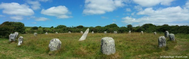 Complete, Neolithic stone circles in Cornwall