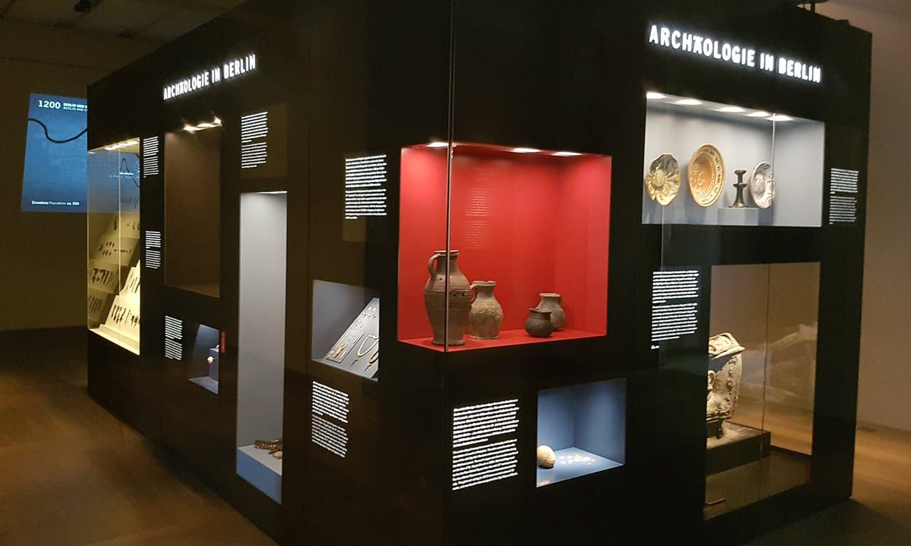 Archaeology in Berlin display in the Neues Museum, Museuminsel.