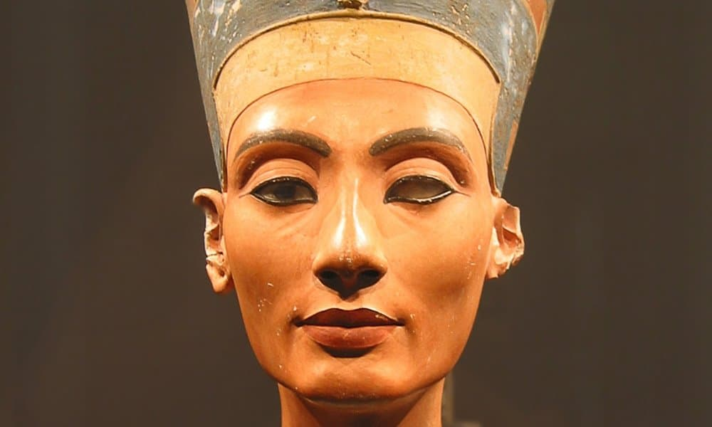 The Bust of Nefertiti in the Neues Museum, Berlin