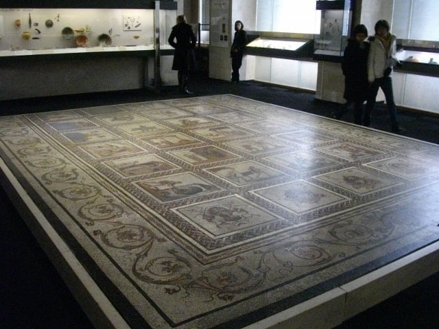 Roman mosaic in National Archaeology Museum, Paris
