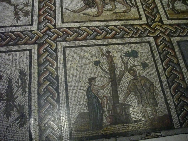 roman mosaic saint romain en gal archaeology travel. Black Bedroom Furniture Sets. Home Design Ideas