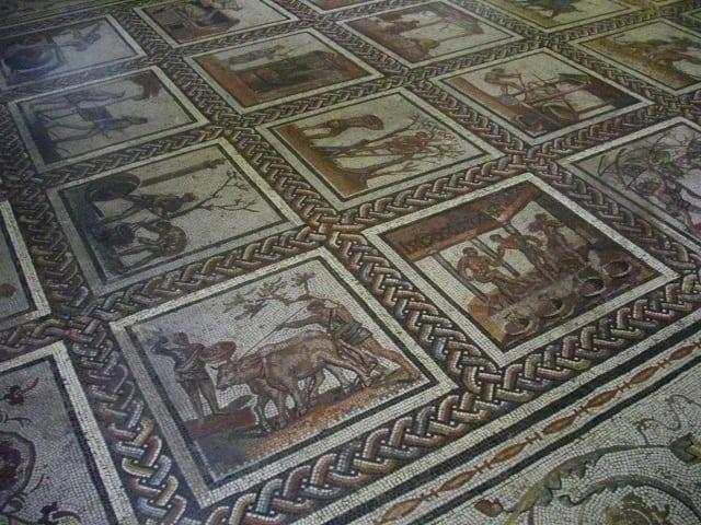 roman mosaic saint romain en gal archaeology travel. Black Bedroom Furniture Sets. Home Design Ideas