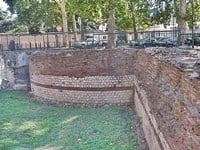 A section of the Roman ramparts in Toulouse.