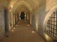 The abbey cloister.