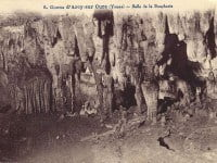 A historic photograph of the Arcy-sur-Cure cave.