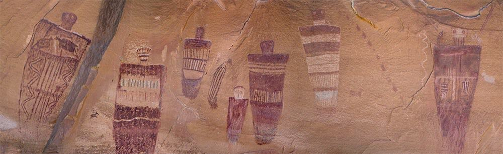 Part of the Great Gallery of Barrier Canyon style Rock art.