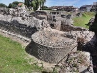 The base of Roman fortifications from Bagacum, or Bavay.
