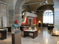 Roman displays in the museum.