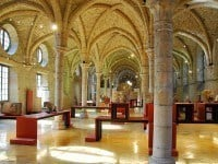 Interior of the Benedictine Abbey now the Dijon Archaeological Museum.