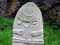 The so-called  la Dame de Saint-Sernin - decorated menhir.