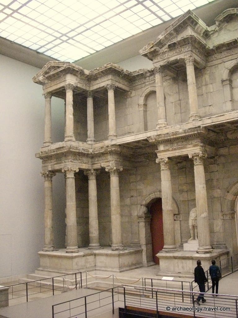 The left hand section of the Miletus market gate