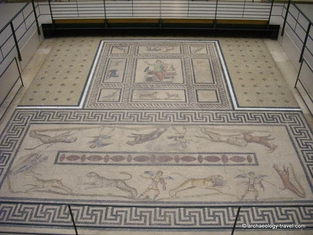 The Orpheus mosaic floor from Miletus, Pergamon Museum