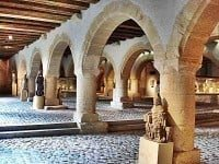 Basement galleries with religious Medieval statuary