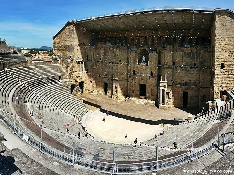 The ancient theatre in Orange, one of the best preserved Roman theatres in Europe.