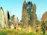 The Pierres Droites stone alignments at Monteneuf, Brittany.