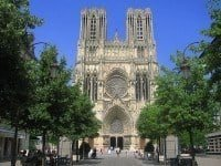 The façade of the Notre Dame Cathedral of Reims
