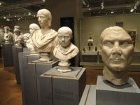 Roman busts in the Royal Ontario Museum