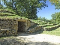 The entrance to one of nine tumuli.