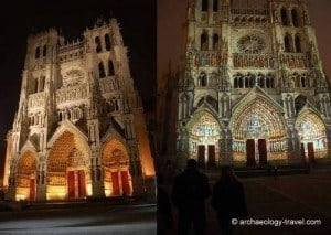 The cathedral in Amiens, in colour