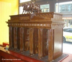 The Brandenburg Gate in chocolate.