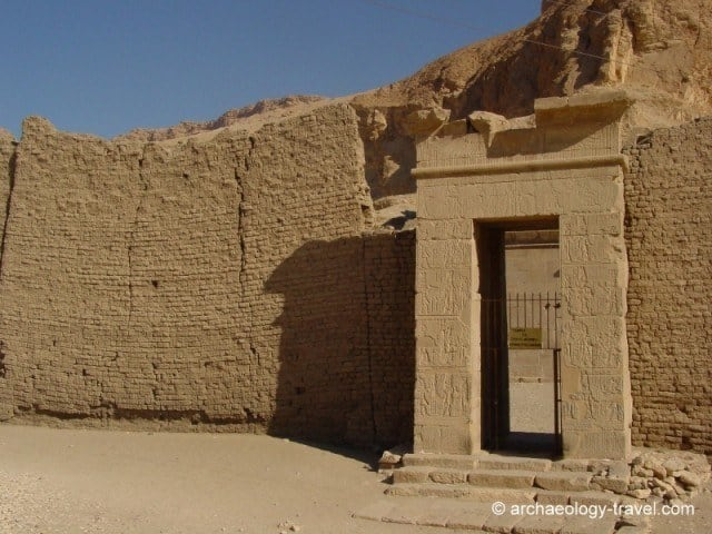 Entrance to the Temple of Hathor