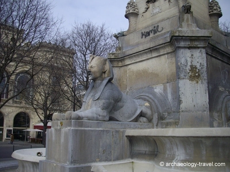 Egyptian Architecture Style ancient egypt on the streets of paris - archaeology travel