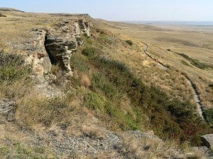 The sandstone cliff at Head-Smashed-In Buffalo Jump