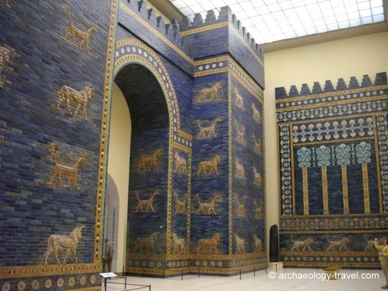 The reconstructed Ishtar Gate in the Pergamon Museum, Berlin.