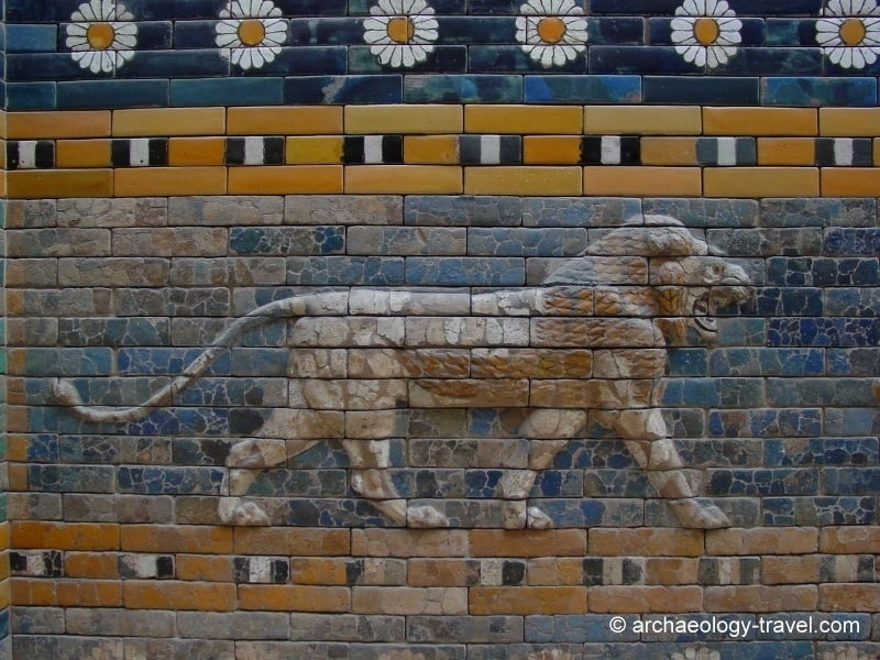 A lion from the Processional Way, Babylon.